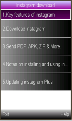 Free Download new instagram for Java - App