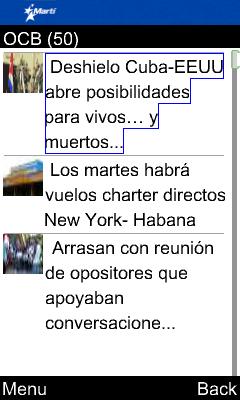 OCB Martí Noticias for Java Phones