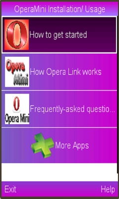 OperaMini Installation/ Usage