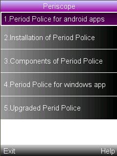 Period tracker/police