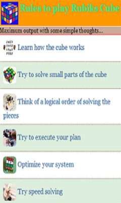 Rubik Cubes Rules