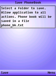 Save PhoneBook S60 Free