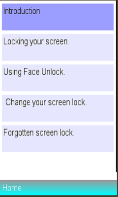 screenlock info usage