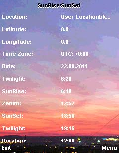 Sunrise/Sunset S60 Free