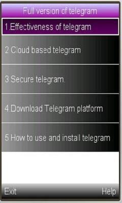 Telegram use and importance