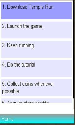 Temple Run Manual Tips