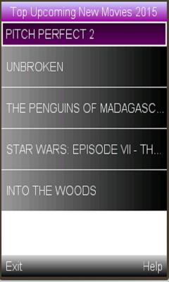 upcoming movies 2015 latest