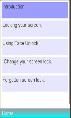 usage on screenlock info