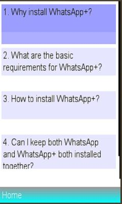 Free Download WhatsApp Plus and FAQS for Nokia Asha 206 - App