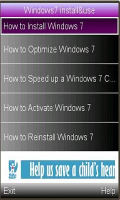 Windows7 Install/Use